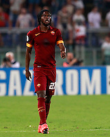 Calcio, Champions League, Gruppo E: Roma vs CSKA Mosca. Roma, stadio Olimpico, 17 settembre 2014.<br /> Roma forward Gervinho, of Ivory Coast, walks on the pitch during the Group E Champions League football match between AS Roma and CSKA Moskva at Rome's Olympic stadium, 17 September 2014.<br /> UPDATE IMAGES PRESS/Isabella Bonotto