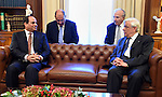 Greek President Prokopis Pavlopoulos meets with Egyptian President Abdel Fattah al-Sisi in Athens on December 8, 2015. Sisi started a two-day visit to Greece for talks focused on energy cooperation. Photo by Egyptian President Office