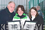 PRESENTED: After been presented at the Ireland and Germany under 16 Soccer International at Pat Kennedy Park, Listowel, on Thursday l-r: John Croghan,Mary Carmody and Triona O'Donnell. ..   Copyright Kerry's Eye 2008