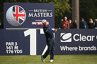 Graeme McDowell (NIR) in action during the Final Round of the British Masters 2015 supported by SkySports played on the Marquess Course at Woburn Golf Club, Little Brickhill, Milton Keynes, England.  11/10/2015. Picture: Golffile | David Lloyd<br /> <br /> All photos usage must carry mandatory copyright credit (© Golffile | David Lloyd)