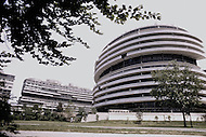 Watergate Complex 1973 - A break in at the Democratic National Committee headquarters at the Watergate complex on June 17, 1972 results in one of the biggest political scandals the US government has ever seen.  Effects of the scandal ultimately led to the resignation of  President Richard Nixon, on August 9, 1974, the first and only resignation of any U.S. President.