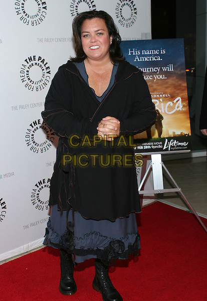 "ROSIE O'DONNELL .Premiere of ""America"" a Lifetime Original movie held at the Paley Center for Media, Beverly Hills, California, USA, 24th February 2009..full length back grey gray jacket coat hands together dress dm dms dm's boot doc martens .CAP/ADM/TC.©T. Conrad//Admedia/Capital Pictures"