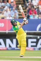 Glenn Maxwell (Australia) over the top for six during Australia vs England, ICC World Cup Semi-Final Cricket at Edgbaston Stadium on 11th July 2019