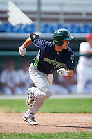Vermont Lake Monsters pinch hitter Tyler Ramirez (31) runs to first base during a game against the Auburn Doubledays on July 13, 2016 at Falcon Park in Auburn, New York.  Auburn defeated Vermont 8-4.  (Mike Janes/Four Seam Images)