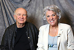 Terrence McNally and Tyne Daly attends the 2014 Tony Awards Meet the Nominees Press Junket at the Paramount Hotel on April 30, 2014 in New York City.