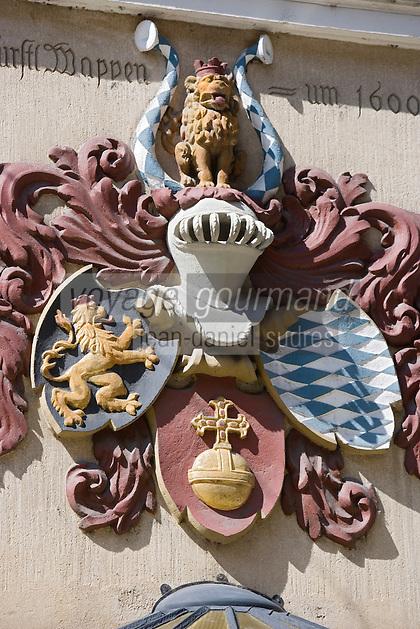 Europe/Allemagne/Bade-Würrtemberg/Heidelberg: détail enseigne du restaurant Die Kurfürstestube