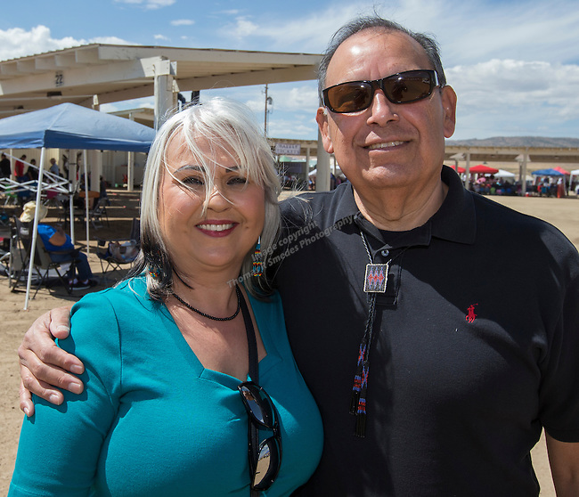 Dr. Enid Conley and Tribal Administrator Edward Reinay at the Numaga Indian Days Pow Wow in Hungry Valley on Saturday, Sept. 3, 2016.