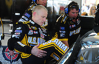 Feb 29, 2008; Las Vegas, NV, USA; NASCAR Sprint Cup Series driver Mark Martin during practice for the UAW Dodge 400 at Las Vegas Motor Speedway. Mandatory Credit: Mark J. Rebilas-US PRESSWIRE