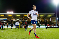 Will Hurrell and the rest of the Bath Rugby team run onto the field. Aviva Premiership match, between Newcastle Falcons and Bath Rugby on February 16, 2018 at Kingston Park in Newcastle upon Tyne, England. Photo by: Patrick Khachfe / Onside Images