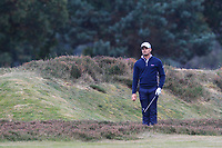 Haydn Porteous (RSA) on the 16th fairway during Round 1of the Sky Sports British Masters at Walton Heath Golf Club in Tadworth, Surrey, England on Thursday 11th Oct 2018.<br /> Picture:  Thos Caffrey | Golffile<br /> <br /> All photo usage must carry mandatory copyright credit (© Golffile | Thos Caffrey)