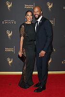 LOS ANGELES, CA - SEPTEMBER 09: Angela Rye, Common, at the 2017 Creative Arts Emmy Awards at Microsoft Theater on September 9, 2017 in Los Angeles, California. <br /> CAP/MPIFS<br /> &copy;MPIFS/Capital Pictures