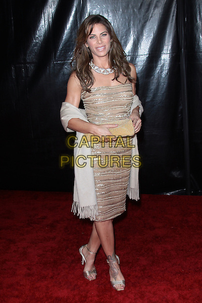 JILLIAN MICHAELS.NBC Universal's 67th Annual Golden Globes After Party held at The Beverly Hilton, Beverly Hills, CA, USA..January 17th, 2009.globe full length brown beige cream sequins sequined dress strapless white wrap clutch bag.CAP/ADM/TC.©T.Conrad/Admedia/Capital Pictures