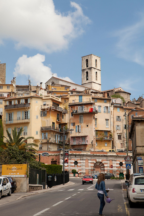 The old town of Grasse, France, 4 May 2013