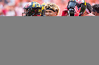 Landover, MD - September 1, 2018: Maryland Terrapins wide receiver Jeshaun Jones (6) with teammates before game between Maryland and No. 23 ranked Texas at FedEx Field in Landover, MD. The Terrapins upset the Longhorns in back to back season openers with a 34-29 win. (Photo by Phillip Peters/Media Images International)