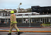 2016 10 28 Huge fire at the Tycoch campus of Gower College Swansea, Wales, UK