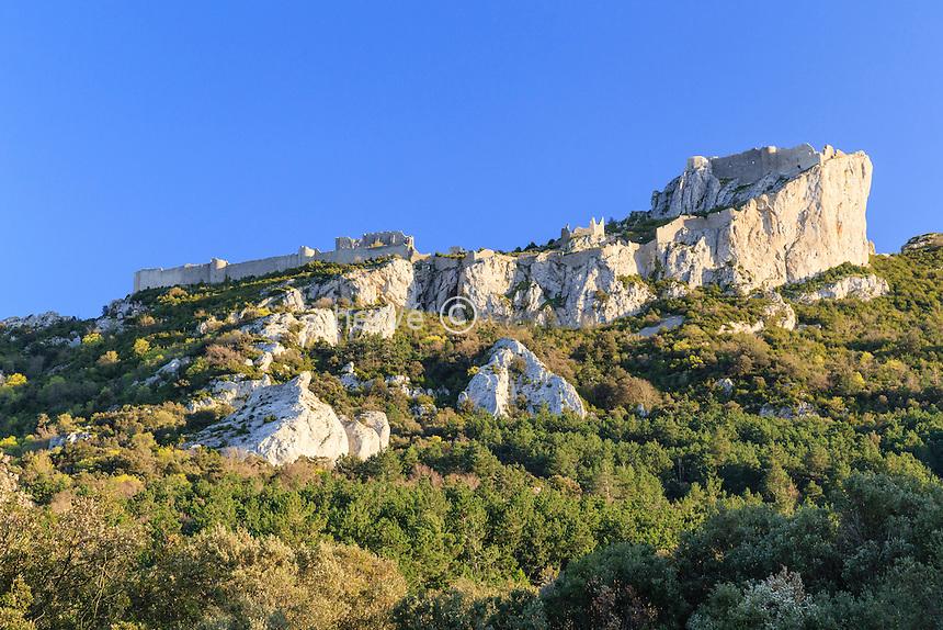 France, Aude (11), Duilhac-sous-Peyrepertuse, château de Peyrepertuse // France, Aude, Duilhac-sous-Peyrepertuse, Peyrepertuse castle