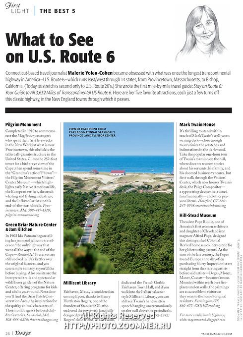 Yankee Magazine Page — August, 2015