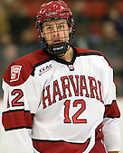 Brendan Rempel (Harvard - 12) - The Yale University Bulldogs defeated the Harvard University Crimson 5-1 on Saturday, November 3, 2012, at Bright Hockey Center in Boston, Massachusetts.