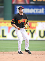 2007:  Chris Basak of the Rochester Red Wings, Class-AAA affiliate of the Minnesota Twins, during the International League baseball season.  Photo By Mike Janes/Four Seam Images
