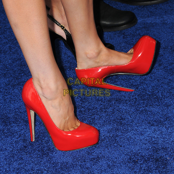 Rose McGowan's shoes.The 2011 Do Something Awards held at The Palladium in Hollywood, California, USA..August 14th, 2011.feet heels detail red patent platform .CAP/ADM/BP.©Byron Purvis/AdMedia/Capital Pictures.