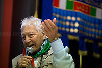 """Arnaldo """"Nando"""" Cavaterra (Antifascist Partizan. Member of the Partigiani: the Italian Resistance during WWII).<br /> <br /> Rome, 19/02/2020. Today, ANPI Roma (National Association of Italian Partizans, Members of the WWII Italian Resistance) celebrated the 100th birthday of Partizan Iole Mancini holding a fully booked public event at the Casa della Memoria e della Storia di Roma (House of Memory and History of Rome). From the ANPI event page: «Iole, belonging to the Roman Resistance, was arrested during the days immediately before the liberation of Rome. She was interrogated and tortured by the SS (by Kappler himself) in Via Tasso prison, in an attempt to extort the place where her boyfriend Ernesto Borghesi was hiding, gappista (*), but without success. Fleeing the arrival of the Allies, the Germans loaded all the prisoners detained in the prison onto three trucks, but the truck on which Iole had been placed did not leave due to a breakdown. All the other prisoners were killed in La Storta. Today it is still with us, with her splendid 100 years, and we celebrate it with pride and gratitude».<br /> (*) The GAPs - Gruppi di Azione Patriottica (Patriotic Action Groups, https://bit.ly/2K3jCmJ) were famous because their members, called """"Gappisti"""", carried out acts of sabotage & guerrilla warfare against nazi-fascist troops in cities such as Rome, Milan, Genova, Bologna and others.<br /> <br /> Footnotes & Links:<br /> 1. http://bit.do/fwe8Z<br /> http://www.anpiroma.org<br /> Le Grandi Novantenni, Iole Mancini torturata dalle Ss: """"Quello che accade oggi mi fa paura"""" (Source, laStampa.it, ITA) http://bit.do/fwfbz<br /> 25 Aprile at Ferramonti concentration camp http://bit.do/fwfgf"""