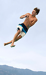 Willow Creek's Sam Baldridge competes during the 53rd annual Country Club League diving championships Wednesday, Aug. 8, 2012, in Sandy, Utah. (© 2012 Douglas C. Pizac)