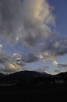 Clouds, mountains early morning sunrise. Imst district, Tyrol/Tirol, Austria. Alps.