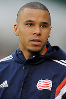Washington, D.C.- March 29, 2014. Charlie Davies (9) of the New England Revolution. D.C. United defeated the New England Revolution 2-0 during a Major League Soccer Match for the 2014 season at RFK Stadium.