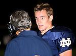 Servite @ Notre Dame - Sherman Oaks (CIF Southern Section).KEVIN ROONEY (BACK TO CAMERA) AND Dayne Crist (10).Notre Dame High School Stadium.Sherman Oaks, CA (Los Angeles) - October 5, 2007.OM3D8168.CREDIT: Dirk Dewachter