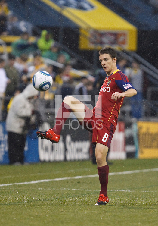 24 APRIL 2010:  Real Salt Lakes' Will Johnson (8) during the Real Salt Lake at Columbus Crew MLS soccer game in Columbus, Ohio. Columbus Crew defeated RSL 1-0 on April 24, 2010.