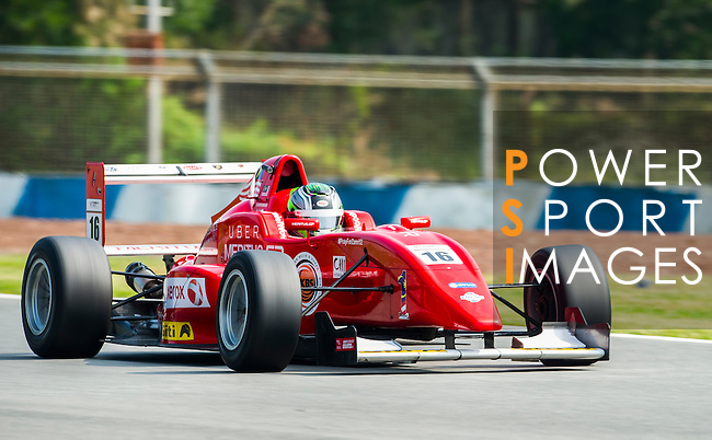 Daniel Woodroof of Malaysia and Meritus.GP drives during Formula Masters China Series as part of the 2015 Pan Delta Super Racing Festival at Zhuhai International Circuit on September 18, 2015 in Zhuhai, China.  Photo by Moses Ng/ Power Sport Images