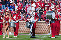 Drum Major leads the Pride during pregame before NCAA football game kickoff against Baylor, Saturday, November 08, 2014 in Norman, Tex. (Mo Khursheed/TFV Media via AP Images)