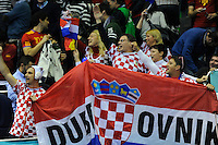 Croatian fans during the match against France