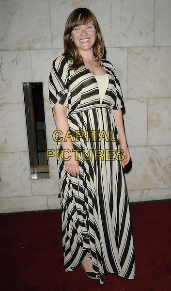 Jessica Hynes.The British Inspiration Awards, InterContinental Hotel, Park Lane, London, England..May 24th, 2012.full length black white striped stripes dress .CAP/CAN.©Can Nguyen/Capital Pictures.