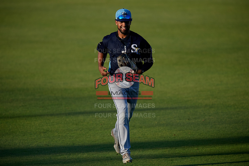 Charlotte Stone Crabs outfielder Garrett Whitley (16) during a Florida State League game against the Bradenton Marauders on July 30, 2019 at LECOM Park in Bradenton, Florida.  Charlotte defeated Bradenton 5-0.  (Mike Janes/Four Seam Images)
