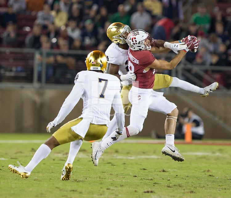 Stanford, California - November 25,  2017: The Stanford Cardinal Football defeats Notre Dame Irish 38-20 at Stanford Stadium at Stanford, California.