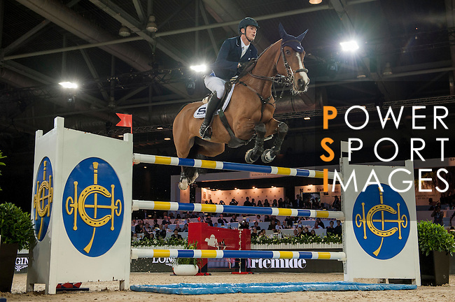 Daniel Deusser of Germany riding Equita van T Zorgvliet during the Hong Kong Jockey Club Trophy competition, part of the Longines Masters of Hong Kong on 10 February 2017 at the Asia World Expo in Hong Kong, China. Photo by Marcio Rodrigo Machado / Power Sport Images