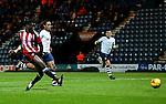 A late chance is missed by Joseph Cummings of Sheffield Utd during the FA Youth Cup 3rd Round match at Deepdale Stadium, Preston. Picture date: November 30th, 2016. Pic Matt McNulty/Sportimage
