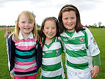Cousins Beth, Kate and Josie Savage pictured at St Feckin's sports day. Photo: Colin Bell/pressphotos.ie