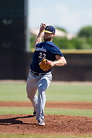 Milwaukee Brewers pitcher Adrian Houser (22) delivers a pitch to the plate during an Instructional League game against the San Diego Padres on September 27, 2017 at Peoria Sports Complex in Peoria, Arizona. (Zachary Lucy/Four Seam Images)