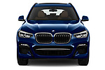Car photography straight front view of a 2020 BMW X3 M-Sport 5 Door SUV Front View