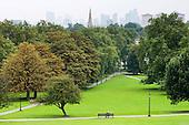 Primrose Hill and view towards the City of London