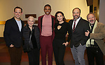 "Harry Hadden-Paton, Rosemary Harris, Christian Dante White, Laura Benanti, Danny Burstein and Allan Corduner attend the ""My Fair Lady"" Re-Opening Celebration at the Vivian Beaumont Theatre on January 27, 2019 in New York City."