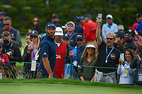 Dustin Johnson (USA) looks for the result of his hit from the trap on 3 during round 4 of the 2019 US Open, Pebble Beach Golf Links, Monterrey, California, USA. 6/16/2019.<br /> Picture: Golffile | Ken Murray<br /> <br /> All photo usage must carry mandatory copyright credit (© Golffile | Ken Murray)