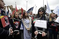 Roma, 20 Febbraio 2014<br /> Sciopero e manifestazione degli avvocati contro il deterioramento del sistema giudiziario in Italia.<br /> Liberate la giustizia.