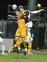 27/01/2010  Copyright  Pic : James Stewart.sct_jspa15_falkirk_v_motherwell  .::  DARREN BARR GETS ABOVE JOHN SUTTON :: .James Stewart Photography 19 Carronlea Drive, Falkirk. FK2 8DN      Vat Reg No. 607 6932 25.Telephone      : +44 (0)1324 570291 .Mobile              : +44 (0)7721 416997.E-mail  :  jim@jspa.co.uk.If you require further information then contact Jim Stewart on any of the numbers above.........