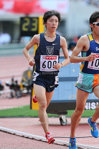Keita Shitara, <br /> JUNE 8, 2013 - Athletics : <br /> The 97th Japan Track &amp; Field National Championships <br /> Men's 10000m Final <br /> at Ajinomoto Stadium, Tokyo, Japan. <br /> (Photo by YUTAKA/AFLO SPORT)
