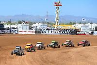 Apr 17, 2011; Surprise, AZ USA; LOORRS driver John Fitzgerald (314) leads the field during round 4 at Speedworld Off Road Park. Mandatory Credit: Mark J. Rebilas-