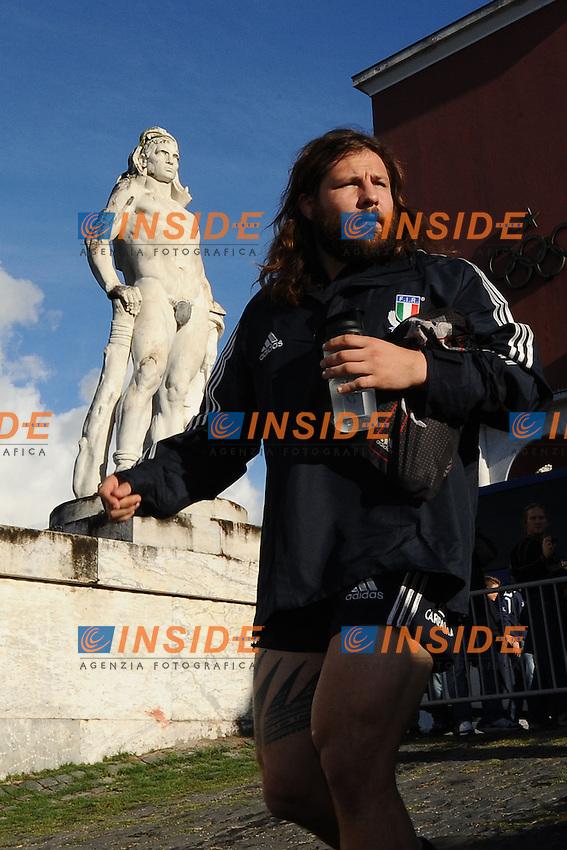 Castrogiovanni.29/10/2012 Roma, Stadio dei Marmi..Allenamento della Nazionale Italiana di Rugby.Foto Antonietta Baldassarre / Insidefoto .Training of Italian national team of Rugby to prepare Test matches..