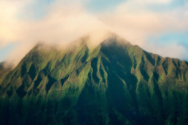 Mountains as seen from Kailua Beach Park, Oahu, Hawaii